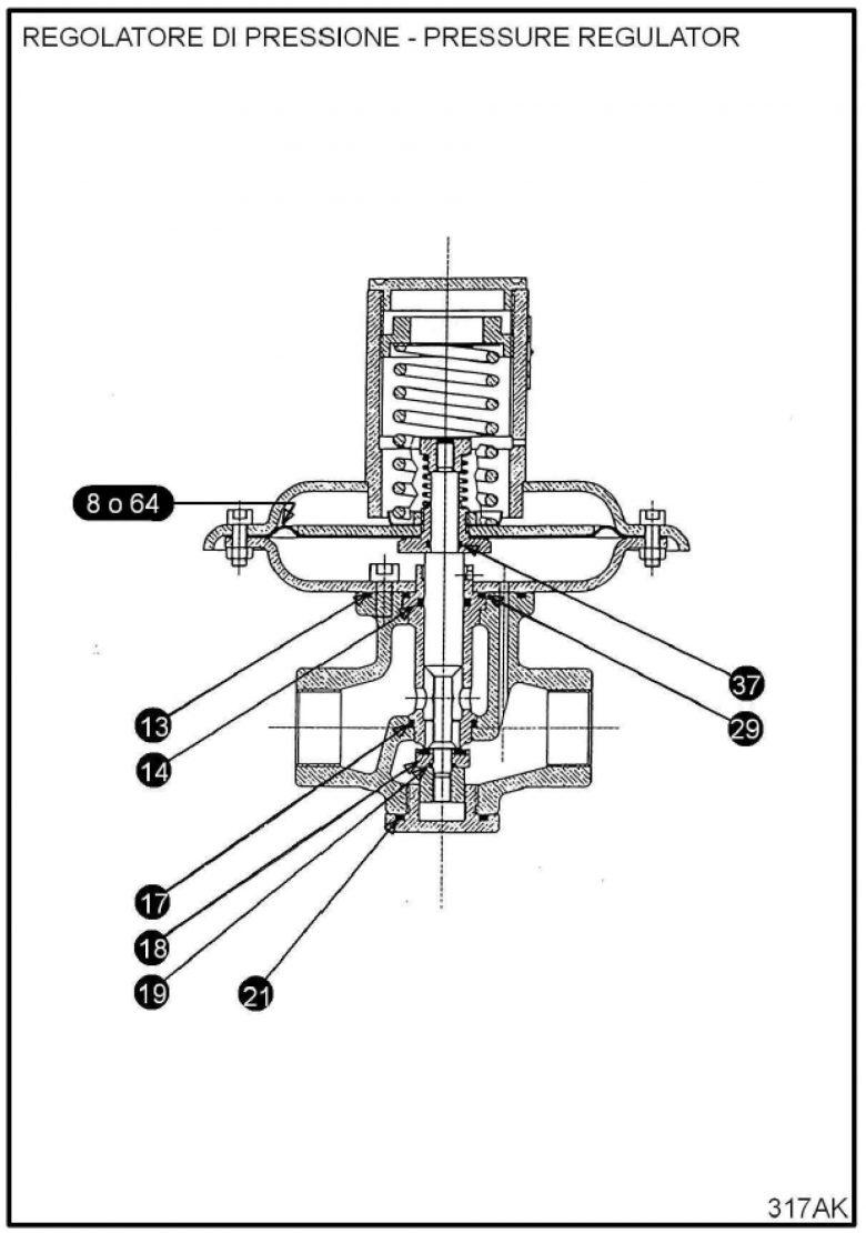 Ремкомплект для регулятора RBE 1700