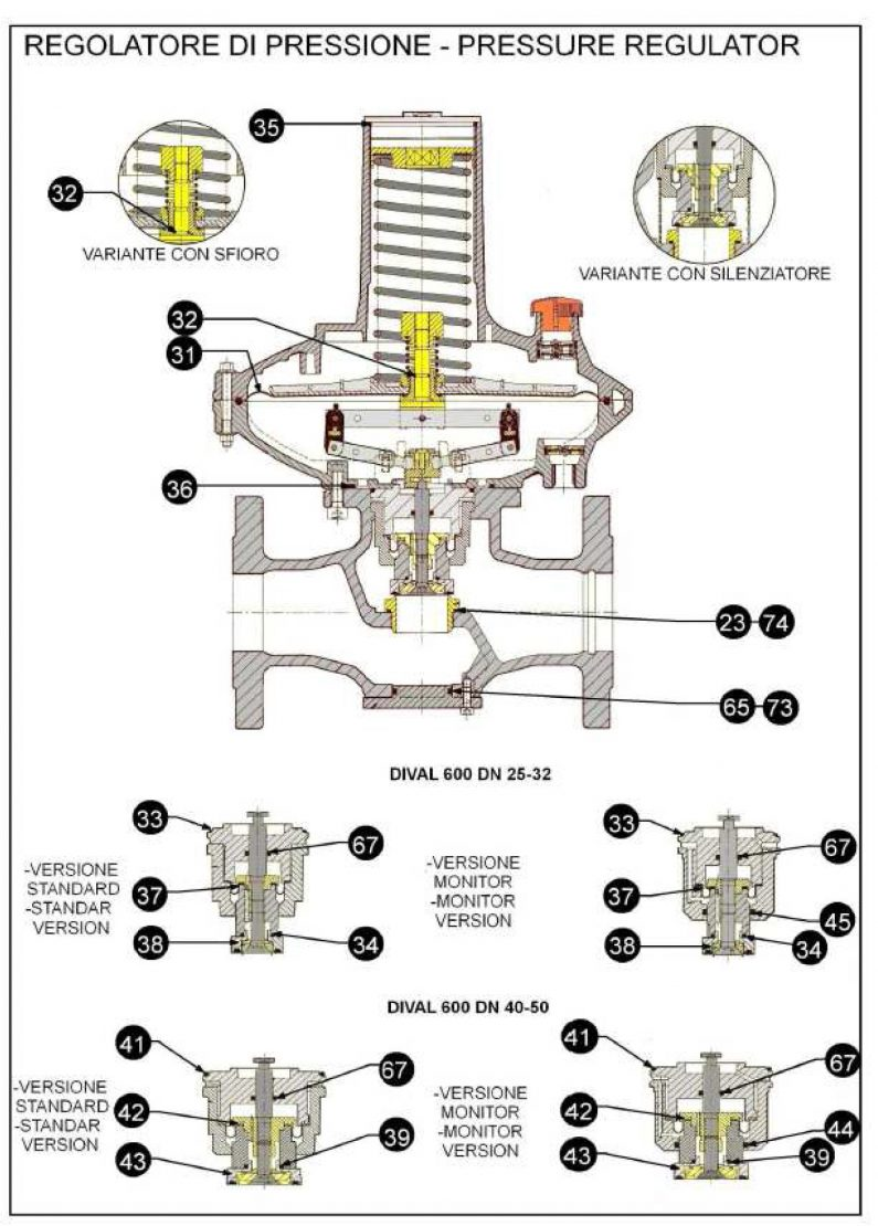 Ремкомплект для регулятора DIVAL MP