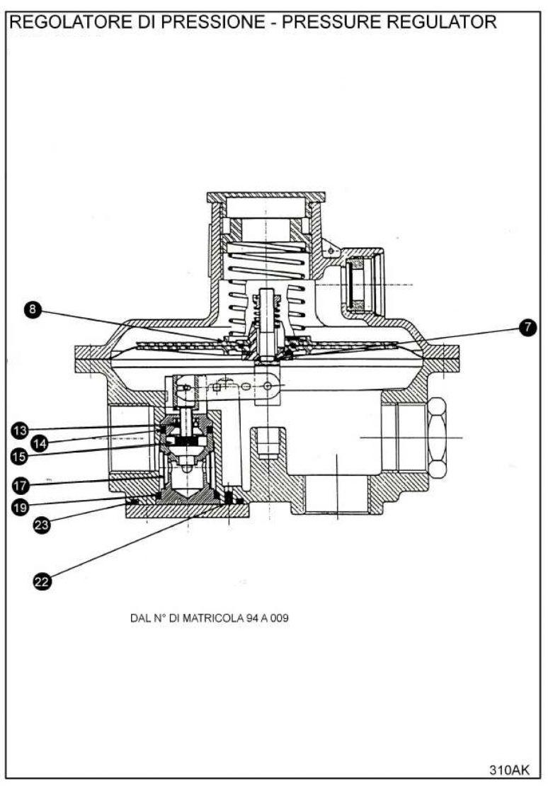 Ремкомплект для регулятора RB 1200
