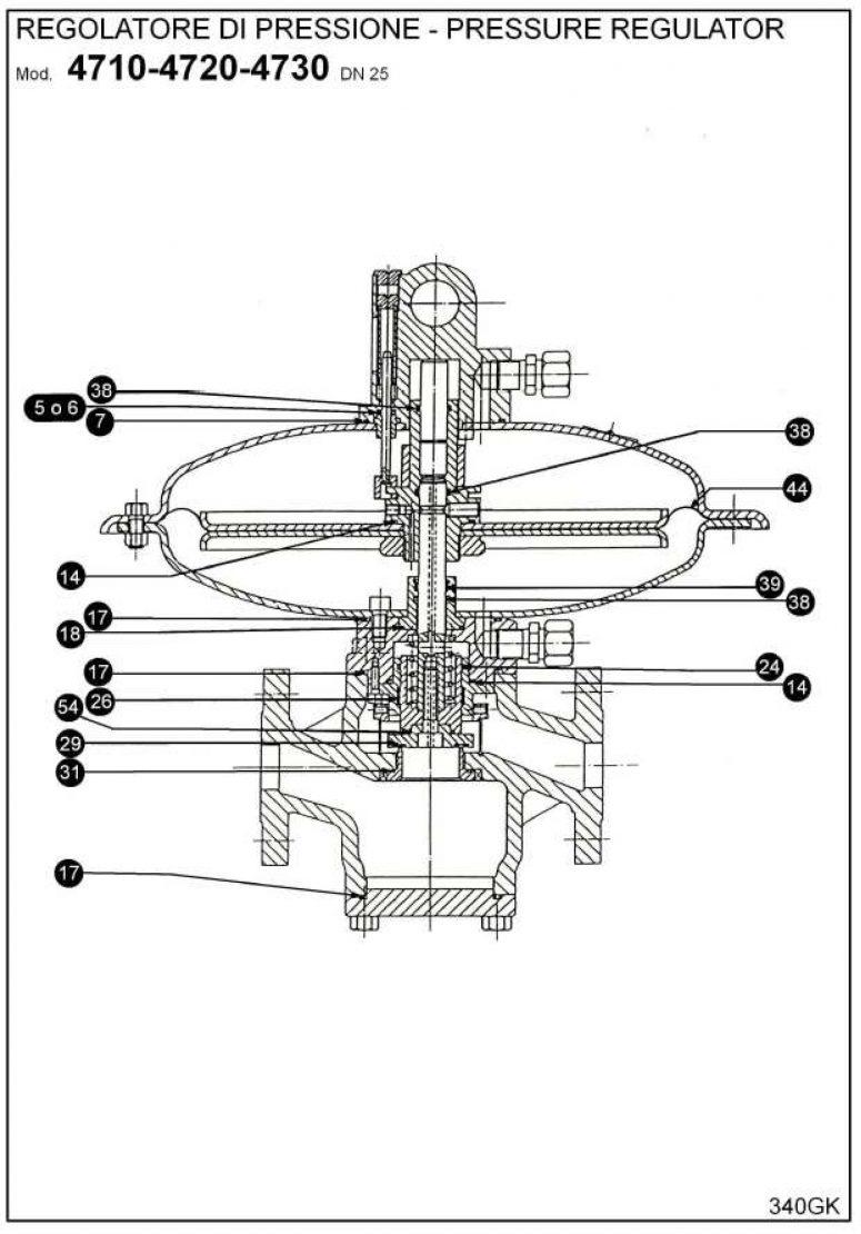 Ремкомплект для регулятора RBE 4700