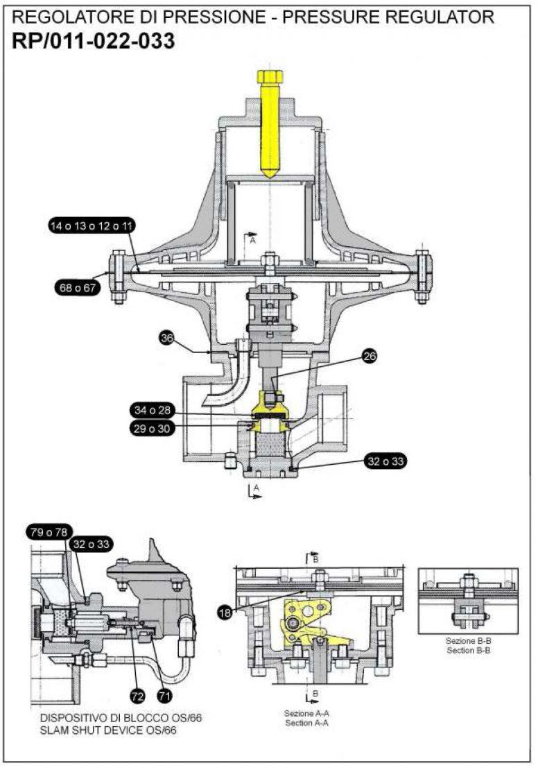 Ремкомплект для регулятора RP-AP