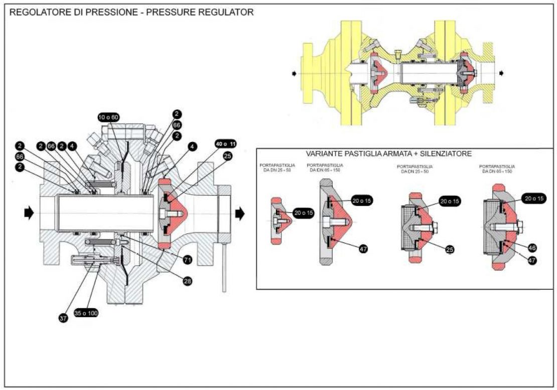 Ремкомплект для регулятора MFL-BP-SR