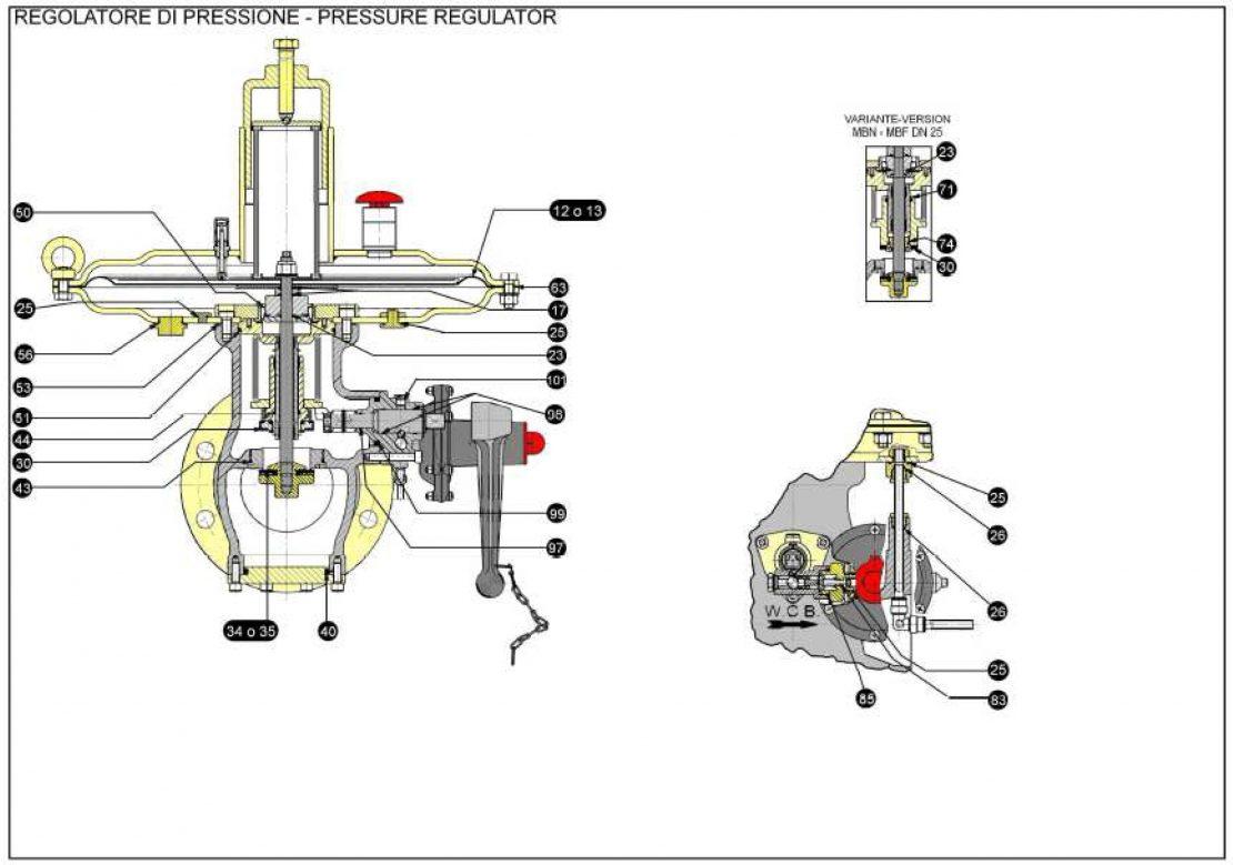 Ремкомплект для регулятора MBN (0-0,2)