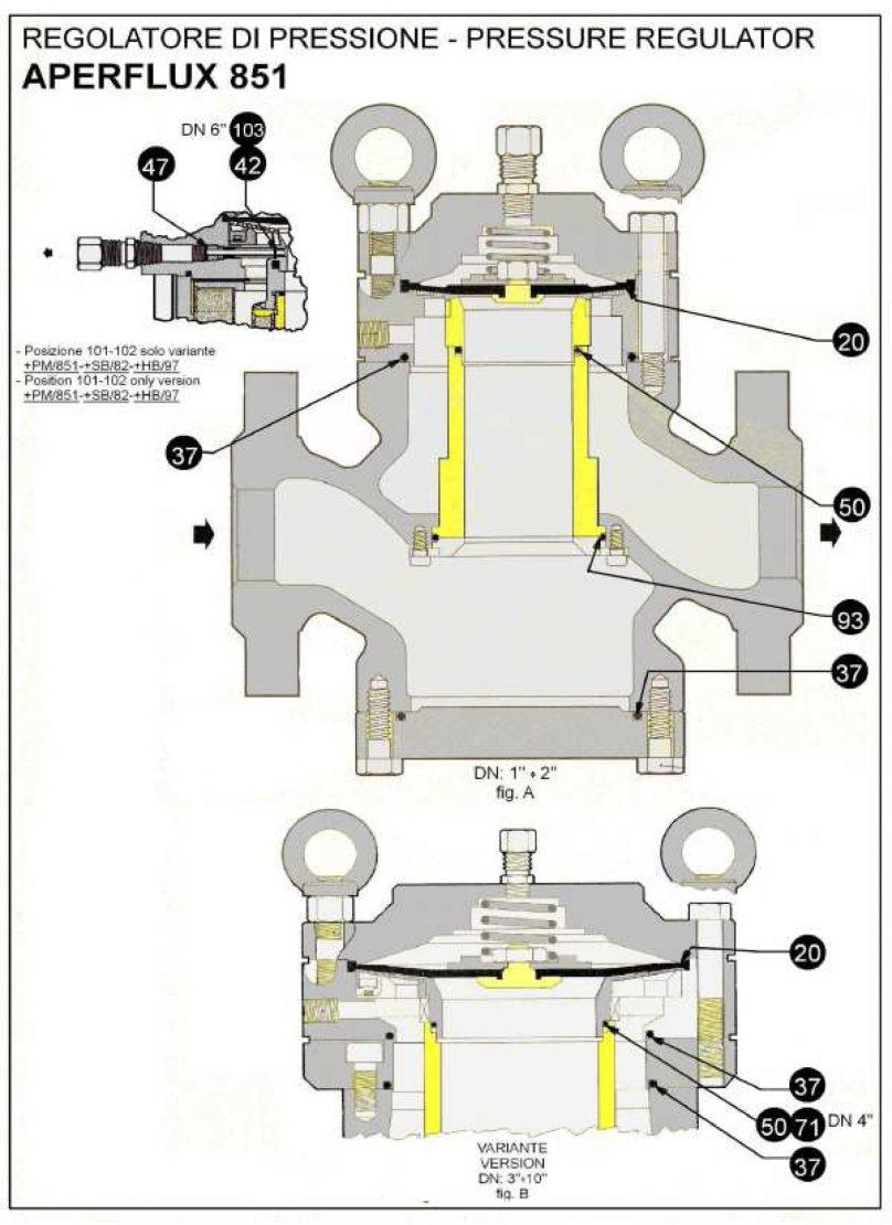 Ремкомплект для регулятора AFLUX 851+HB/97