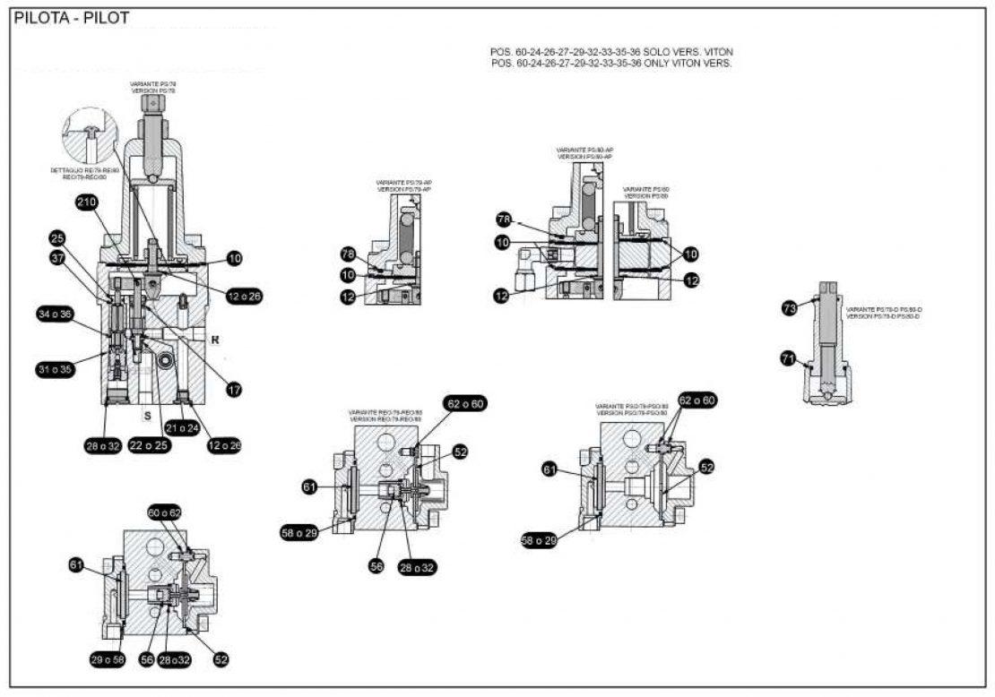 Ремкомплект для пилота PS/80