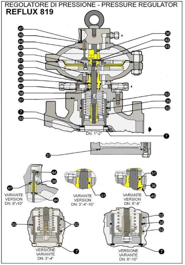 Ремкомплект для регулятора REFLUX 819